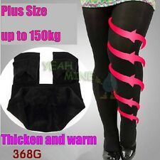 Women Girls Plus Size Leggings Stockings Slim Thin Flannel Tights Anchored Pants