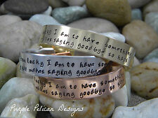 Pooh Quote Bracelet - How lucky I am to have something...