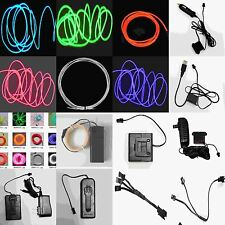 10 15 18ft Neon Light Glow EL Wire Led StripTube Car Party Decoration+Controller