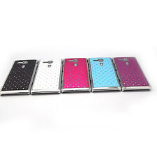 Metal Aluminum Diamong Snap On Case Cover + Film For Sony Xperia SP Experia M35H