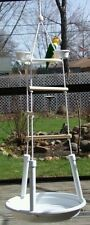 parrot bird play stand gym perch hanging playstand playgym portable compact cage