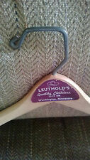 Vtg Wishbone wooden men's suit hanger from Leutholds Store in Worthington MN