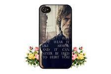Tyrion Lannister iPhone Case 5S 5C 5 4S 4 Plastic Silicone Game of Thrones S4 S3