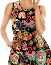 FOLTER DRESS SUGAR SKULLS FLORAL PINUP PUNK 1950's RETRO VINTAGE ROCKABILLY GOTH