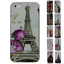 HOT SALE 1PC Vintage Tower Flag On Protector Case Cover For Apple iPhone 5/5S