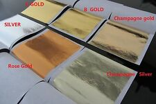 100 sheets  Imitation GOLD/SILVER leaf champagne gold/silver leaf 6 colors 8x8cm