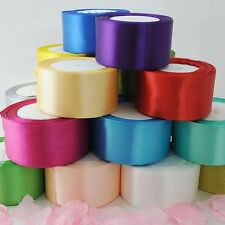22 metres 25 yards of Satin Ribbon 50mm 5cm Multiple Colours sold by rolls