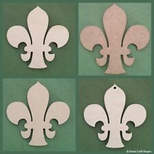 Wooden Fleur-de-lis, 4mm birch ply wood craft Blank, Tags, plaques and cut-outs