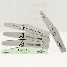Artistic Nail Design Colour Gloss Tools - Grit Files Buffers Shine Gel Brushes