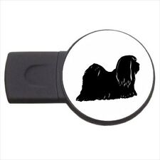 Lhasa Apso Puppy Dog - Round USB Flash Drive (3 Sizes) -PP4610