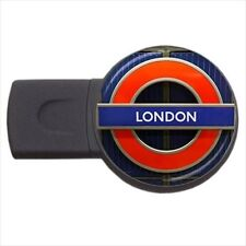 London Sign Text Design - Round USB Flash Drive (3 Sizes) -PP4623