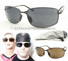 Classy Metal Frame Square Bifocal Reading Sunglasses for Men, from 1.25 to 4.00