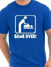 Game Over New Baby Dad Daddy New Parent Mens Funny Birthday Gift  Size S-XXL