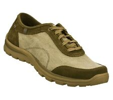 63744 TAUPE SKECHERS SHOES MEN'S MEMORY FOAM RELAXED FIT SOFT FABRIC DENIM SUEDE