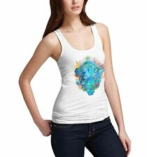 Womens Classic Lions Head Printed Graphic Tank Top