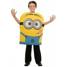 Minion Dave Costume Kids Despicable Me 2 Movie Funny Halloween Fancy Dress