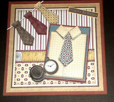 Handmade Greeting Card 3D All Occasion With Mens Clothing Shirt And Ties