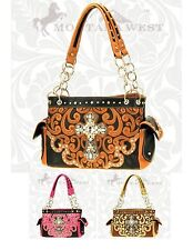 Montana West New Big Crystal Cross Leather Spiritual Shoulder Bag Purse CON-8085