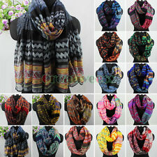 Fashion Women's Bohemian Style Floral Infinity Loop Cowl Casual Scarf Lady Shawl