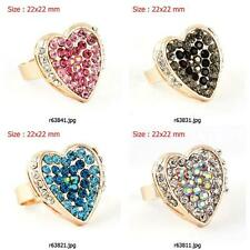 r638m07 Lady frog Rhinestone Crystal CZ rose Gold Plated Stretch Adjustable Ring