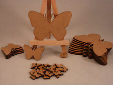 Wooden MDF Butterfly shapes, craft blank, cutouts, Plaque and card making, 2&3mm
