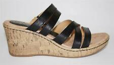 Women's Shoes b.o.c BORN SORAH Wedge Sandals Heels Leather BLACK
