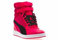 New Puma Shoes Womens Sky Wedge Sneakers in Bold Pink