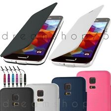 ETUI COQUE HOUSSE FLIP COVER POUR SAMSUNG GALAXY S5 + FILM + STYLET