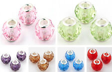 NEW 10pcs lampwork Acrylic crystal beads for European beaded charm bracelet b219