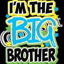 I'm  the Big Brother Neon Blue Print T Shirt Kids Infant Tee