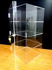 Acrylic CUPCAKE Stand Showcase Pastry Bakery Counter Display w/door & lock New