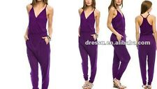 Armani Exchange A|X Women's Drapey Racerback Jumpsuit - (Purple) Size S