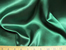 Discount Fabric Satin Emerald Green 64 inches wide 77SA