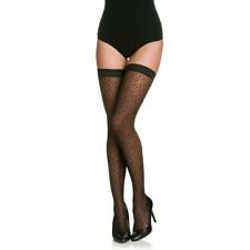 New WOLFORD SEXY DANA Black Stay-up Stockings Extra Small XS Medium M Large L