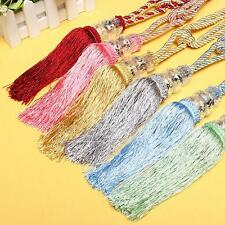 2pcs Crystal Tassel Beaded Tiebacks Window Curtain Fringe Tie Backs Home Decor