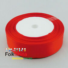 25 Yards Red Single Sided Satin Ribbons 6mm,10mm,12mm,15mm,24mm,38mm,50mm