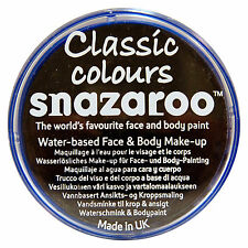 Snazaroo 18ml BLACK FACE PAINT Fancy Dress Party Stage MakeUp