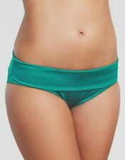 Figleaves Swimwear Fortune Fold Waist Bikini Brief Green 117512 Select Size BNWT