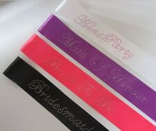 Hens Night Party Bridal Sash EXTRA LARGE Diamante Lettering ELECTRIC