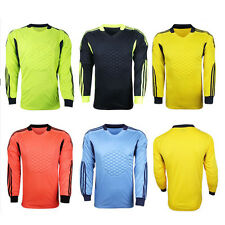 Men Soccer Keeper Football Goalkeeper Goalie Foam Padded Jersey Shirt Top Blouse