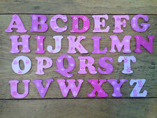 WOODEN PAINTED ALPHABET LETTERS girls / pinks Individually hand painted.