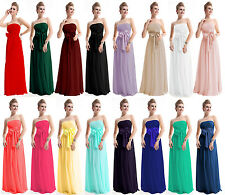 STOCK Bridesmaid Wedding Gown Prom Ball Evening Dress Sizes 6-8-10-12-14-16-18