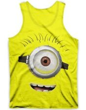 DESPICABLE ME STUART BIG FACE MINION MENS YELLOW TANK TOP T-SHIRT S M L XL 2XL