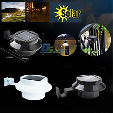 Outdoor Solar Powered LED Light Garden Fence Yard Wall Roof Pathway Lamp 2 Color