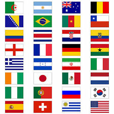 World Cup Brazil 2014 Flag 5' x 3'  - ALL TEAMS National Football Brasil