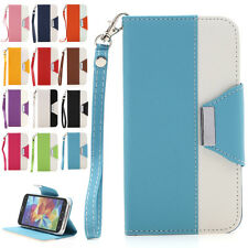 Luxury PU Leather Wallet Flip Case Stand Cover Skin For Samsung Galaxy S5 i9600