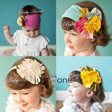 Baby Child Girls Cute Lovely Headwear Flower Elastic Cotton Headband Hair Band