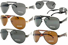 SILVER BLACK GOLD AVIATOR PILOT OUTDOORSMAN STYLE METAL FRAME SUNGLASSES SHADES