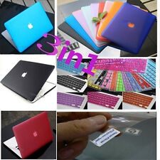 """3in1 For MacBook Pro 13"""" A1278 Matte Hard Case Keyboard Cover Screen Protector"""