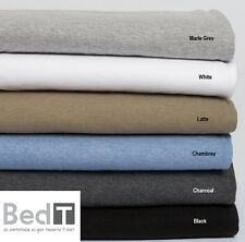 Bambury BedT Jersey Knit Tshirt 100% Cotton Sheet Set - SINGLE DOUBLE QUEEN KING